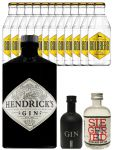 Gin-Set Hendricks Gin Small Batch 0,7 Liter + Black Gin Gansloser Deutschland 5cl Liter + Siegfried Dry Gin Deutschland 4cl + 12 x Goldberg Tonic Water 0,2 Liter