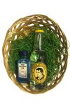 Gin Tonic Osternest/Osterkorb von Hallers Gin 0,05 Liter & Thomas Henry Tonic Water 0,20 Liter